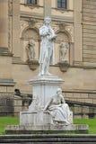 Friedrich Schiller-monument in Wiesbaden, Duitsland Stock Foto's