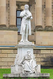 Friedrich Schiller monument in Wiesbaden, Germany Royalty Free Stock Photos
