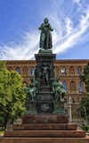 Friedrich Schiller statue, Vienna, Austria. German poet Friedrich Schiller monument on the Schillerplatz square in Vienna, Austria Stock Photography