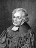 Friedrich Schleiermacher. (1768-1834) on engraving from 1859. German theologian, philosopher and biblical scholar. Engraved by unknown artist and published in Royalty Free Stock Photography