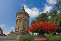 Mannheim Water Tower Stock Photography