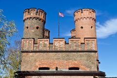 Friedrichsburg Gate - old German Fort in Koenigsberg. Kaliningrad (until 1946 Koenigsberg), Russia Stock Photography