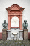 FRIEDRICHSDORF, GERMANY/EUROPE - SEPTEMBER 27 : Busts of Prof Dr Royalty Free Stock Image