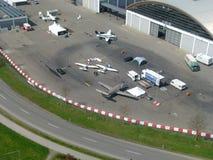 Friedrichshafen flygplats royaltyfri foto