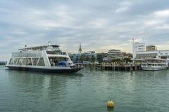 Friedrichshafen harbor on BodenSee lake, Baden-Wurttemberg, Germ Royalty Free Stock Photos