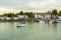 Friedrichshafen harbor on BodenSee lake, Baden-Wurttemberg, Germany Stock Photography