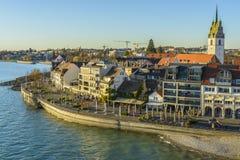 Friedrichshafen miasto na Bodensee jeziorze Obrazy Royalty Free