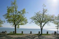Friedrichshafen på sjön Constance, Baden-Wuurttemberg Arkivbild