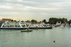Friedrichshafen schronienie na BodenSee jeziorze, Baden-Wurttemberg, Niemcy Obrazy Stock