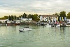 Friedrichshafen schronienie na BodenSee jeziorze, Baden-Wurttemberg, Niemcy Fotografia Stock