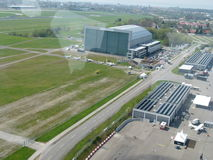 Friedrichshafenluchthaven royalty-vrije stock foto's