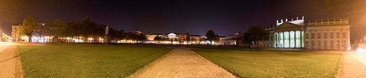 Friedrichsplatz kassel germany at night high definition panorama Royalty Free Stock Images