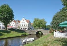 Friedrichstadt norr Frisia, Schleswig-Holstein, Tyskland Royaltyfri Foto