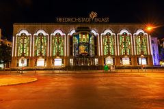Friedrichstadtpalast in Berlin, Germany, at night Royalty Free Stock Photography