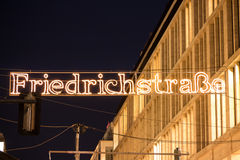 Friedrichstraße in letters Stock Photo