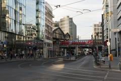 Friedrichstraße ulica w Berlin Zdjęcia Stock
