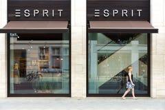 Friedrichstrasse的Esprit商店 免版税库存图片