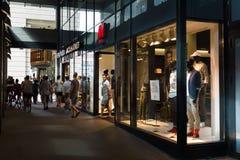 Friedrichstrasse的H&M商店 库存照片
