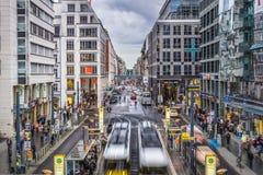 Friedrichstrasse gata i Berlin Fotografering för Bildbyråer