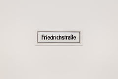 Friedrichstrasse metro sign Royalty Free Stock Photography