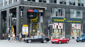 Friedrichstrasse - is one of the most famous stree Stock Photos