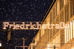 Friedrichstrasse in winter Royalty Free Stock Images