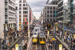 Friedrichstrassestraat in Berlijn Royalty-vrije Stock Foto's