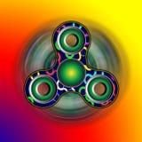 Friemel spinner in beweging - stuk speelgoed die zich voor spanningshulp en aandachtsverhoging bewegen 3d geef illustratie terug Royalty-vrije Stock Fotografie
