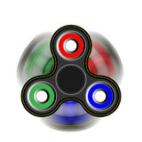 Friemel spinner in beweging - stuk speelgoed die zich voor spanningshulp en aandachtsverhoging bewegen 3d geef illustratie terug Stock Afbeeldingen
