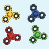 Friemel Spinner Kleurrijke Reeks Vector illustratie Stock Foto's