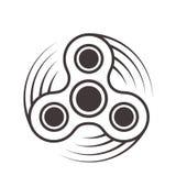 Friemel spinnerpictogram - stuk speelgoed voor de verbetering van de spanningshulp van concentratieperiode Gevuld met grijze kleu royalty-vrije illustratie