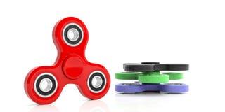Friemel spinners op witte achtergrond 3D Illustratie Royalty-vrije Stock Fotografie