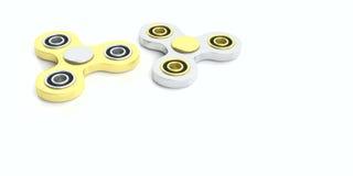 Friemel spinners op witte achtergrond 3D Illustratie Royalty-vrije Stock Afbeelding