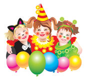 Friend. S in beautiful suits rejoice on a holiday of Purim Stock Photo