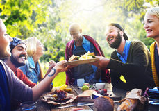 Friend Celebrate Party Picnic Joyful Lifestyle Drinking Concept Stock Images