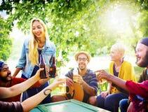 Friend Celebrate Party Picnic Joyful Lifestyle Drinking Concept Royalty Free Stock Image