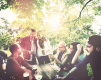 Friend Celebrate Party Picnic Joyful Lifestyle Drinking Concept Royalty Free Stock Photography