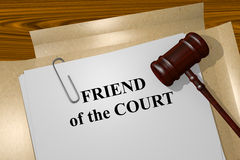 Friend of the Court concept Royalty Free Stock Photo