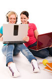 Friend are doing homework Royalty Free Stock Photos