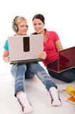 Friend are doing homework Stock Images