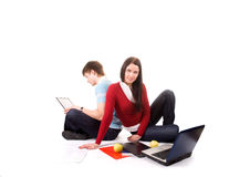 Friend are doing homework Stock Photography