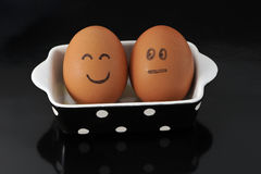 Friend eggs Royalty Free Stock Photos