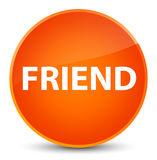 Friend elegant orange round button Stock Photography