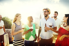 Friend Friendship Dining Celebration Hanging out Concept.  royalty free stock photography