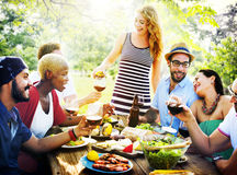 Friend Friendship Dining Celebration Hanging out Concept.  royalty free stock images