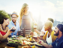Friend Friendship Dining Celebration Hanging out Concept Stock Photo