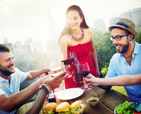 Friend Friendship Dining Celebration Hanging out Concept.  stock image