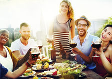 Friend Friendship Dining Celebration Hanging out Concept.  stock photography