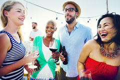 Friend Friendship Dining Celebration Hanging out Concept.  royalty free stock image