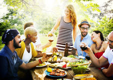 Friend Friendship Dining Celebration Hanging out Concept Royalty Free Stock Images